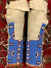 Outstanding circa 1890 Sioux or Arapaho Women's Leggings ~ Museum Quality