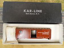 HO SCALE KAR-LINE SANTA FE 146285 SHIP AND TRAVEL 40' BOX CAR KIT NOS