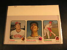 1973 Topps 3-Card Uncut Strip Fosse McMullen Gossage