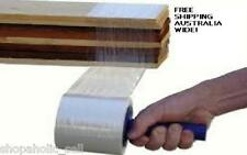 CLEAR STRETCH PALLET WRAP - 100mm x150m & FREE DISPENSER x 2 rolls