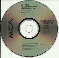 B.B. KING & ROBERT CRAY Playin with my Friends w/RARE EDIT PROMO DJ CD Single BB