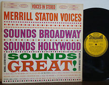 MERRILL STATON-FRANK HUNTER Sounds Broadway, Hollywood ORIG 1961 EPIC STEREO LP