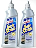2 Bottles Soft Scrub 18.3 Oz Multi Surface No Rinse Cleaner And Polish Gel
