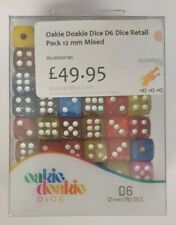More details for oakie doakie dice - mixed designs d6's  - 192 dice 12mm