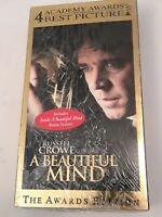 A Beautiful Mind (VHS, 2002, Awards Edition) New Sealed. Russell Crowe