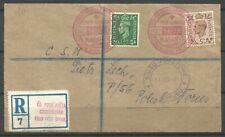 Czechoslovakia/ Poland, Registered  Field post to Polish Forces