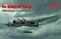 ICM 48236 Ju 88A-4/Torp, WWII German Torpedo Plan 1/48 plastic model kit 200 mm