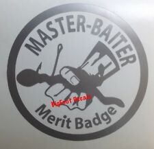 Car Decal Master Baiter Fishing Hook Bait Bass Trout Catfish Window Sticker Boat