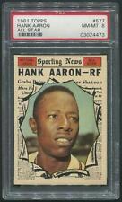 1961 Topps Baseball #577 Hank Aaron All Star PSA 8 (NM-MT)