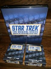 2 Star Trek TOS Archives & Inscriptions Trading Card HOBBY Boxes + Binder Album