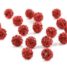20PCS 10mm Czech Crystal Rhinestones Pave Clay Round Disco Ball Spacer Bead New
