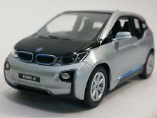 "Brand New 5"" Kinsmart BMW i3 Diecast Model Toy Car 1:32 Pull Action SILVER"