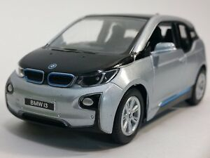 """Brand New 5"""" Kinsmart BMW i3 Diecast Model Toy Car 1:32 Pull Action SILVER"""