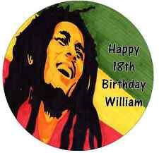 "Bob Marley Personalizado Cake Topper 7.5 ""Comestibles De Oblea De Papel"