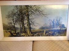 """Huge Lovely David Shepherd 1985 """"Landscape"""" Print- Signed And Framed"""