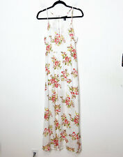 Forever 21 White Floral Cutout Back Sleeveless Maxi Dress Womens Size M