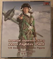 did action figure japanese navy zero pilot 1/6 12'' boxed hot toy ww11 dragon