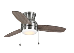 Home Decorators Ashby Park 52 in. Color Changing LED Brushed Nickel Ceiling Fan