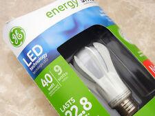 (4) GE Energía Inteligente 9 Vatios Bombilla LED A19 Mediano Base 450 Lumens