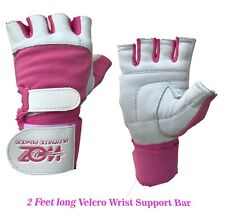 Women Leather Gym Weight Lifting Gloves Body Fitness Work out Exercise Gloves
