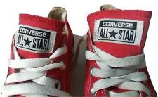 Size UK 3 Red CONVERSE ALL STAR  Trainers Runners Lace Up