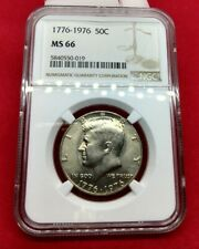 1976 P 50c Kennedy Bicentennial Half Dollar Coin NGC MS66 $150 NGC price guide