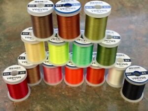 VEEVUS 8/0 FLY TYING THREAD. YOU PICK THE COLOR. FLAT RATE SHIPPING. STRONG
