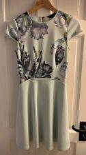 Ted Baker Faythe Torchlit Floral Mint Skater Dress Size 1 Uk 8