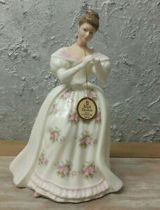 """Royal Doulton 1990 """"SUMMIT ROSE"""" Lady  Porcelain  Figurine - DAMAGED !!! 💜"""