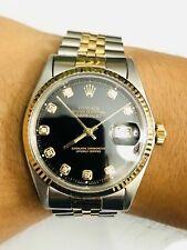 Rolex Datejust 1601 Black Diamond Dial 36MM Original Box, case, booklets