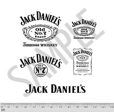 Jack Daniel's Code 3 Decal Stickers 5 SHEET Black 1:24 1:18 Diecast Cars