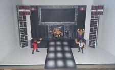WWE WWF CUSTOM HASBRO RETRO RAW IS WAR ATTITUDE WRESTLING FIGURE STAGE