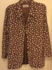 Laundry by Shelli Segal Brown Sunburst / Starburst Blazer - Large