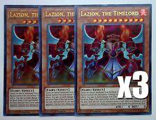 YuGiOh, Battles of Legend, 3X, Lazion, The Timelord, BLLR-EN031, Ultra Rare, New