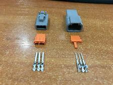 Deutsch DTM 3 Pin Motorsport Connector Kit With EZ-Crimp Contacts 16-22 AWG