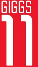 Manchester United Giggs Nameset Shirt Soccer Number Letter Heat Football 02 H