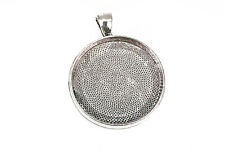 2 silver Bezel TRAYS for Resin, Cabochons, fits 30mm, for ice resin chs2494