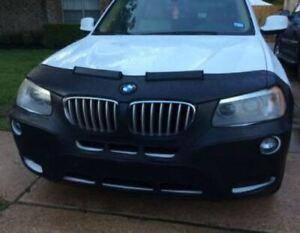 Colgan Front End Mask Bra 2pc. Fits BMW X3 2011-2014 W/ Frt.Plate, With Sensor.