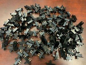 **100-PCS C&K L Series  Miniature Slide Switches 4A 125V