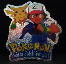 05 Ash mit Pikachu - Pokémon Glitzeraufkleber - Aufkleber ca. 13 x 14,5 cm