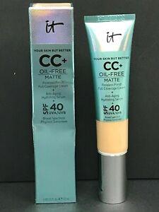 It Cosmetics CC+ Oil-Free Matte Foundation1.08oz LIGHT NEW READ