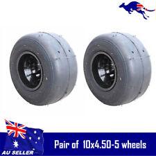 "Pair of 5"" Go Kart Wheel 10x4.50-5 Huffy Slider Drift Trike Gokart Racing Buggy"