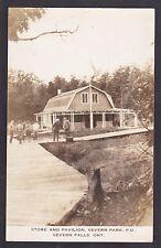 C 1920 Real Photo RPPC Postcard Store & Pavilon P.O. SEVERN FALLS Ontario Canada