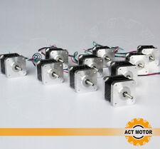 ACT Motor GmbH 10PCS Nema17 17HS3404 Schrittmotor 0.4A 34mm 2800g.cm 3D Drucker