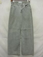 D4175 Abercrombie & Fitch Corduroy Gray Cool USA Made Pants Women 26x29