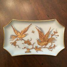 Le Tallec Dish Paris France Porcelain Hand Painted Limoges Birds