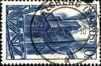 """SARRE / SAARLAND - 1949 """" RIEGELSBERG (SAAR) / a """" on Mi.248 10fr blast furnaces"""