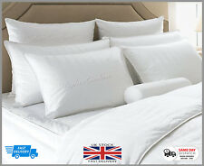 Luxury Comfy Feather & Down Pillows Soft Cotton Extra Filled  Hotel Quality