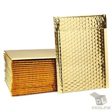 25 #0 Glamour Metallic Gold Poly Bubble Mailers Envelopes Bags 6x10 DVD Wide CD