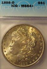 1898-O MORGAN SILVER DOLLAR MS64+  ICG